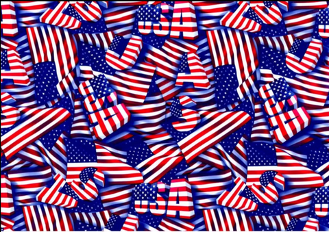 (NEW) FLG022 - USA Flags (50cm)