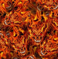 FLM021 - Flaming Devil Skulls (50cm)