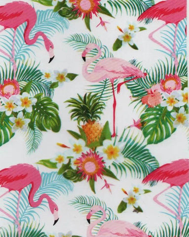 (NEW) ANM055 - Floral Flamingos (50cm)