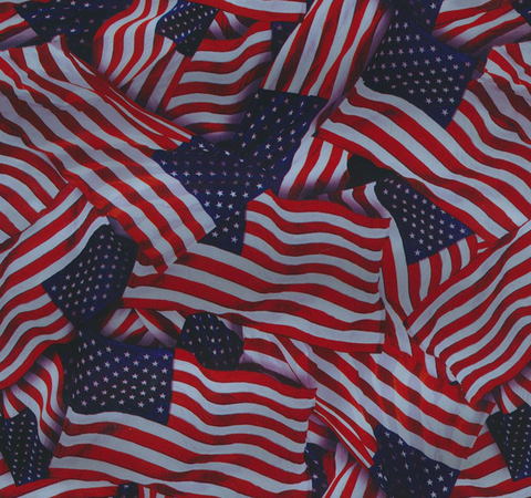 (NEW) FLG018 - Metallic US Flags (100cm)