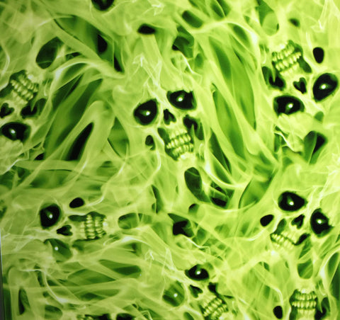 (NEW) FLM040 - Phantom Flames-Green (100cm)