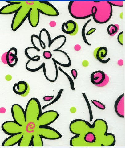 FWR009 - Pink & Green Flowers (50cm)
