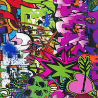STB007 - Purple/Green Graffiti Sticker Bomb (100cm)