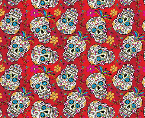 SKL029 - Day of the Dead Red Sugar Skulls (50cm)