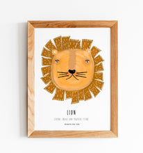 "Load image into Gallery viewer, ILLUSTRATION ""Lion"" - GirafaNaLua"