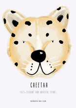 "Load image into Gallery viewer, ILLUSTRATION ""Cheetah"" - GirafaNaLua"