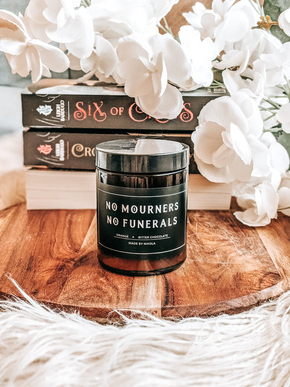 No Mourners No Funerals Candle
