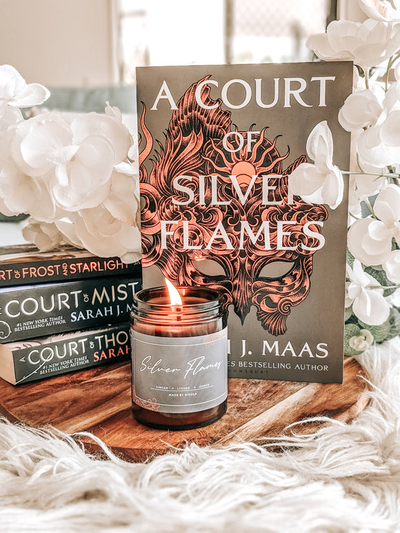 Silver Flames Candle