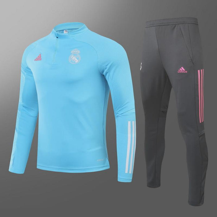 Real Madrid Sky Blue 2020-21 Training Kit ( TOP + PANT )