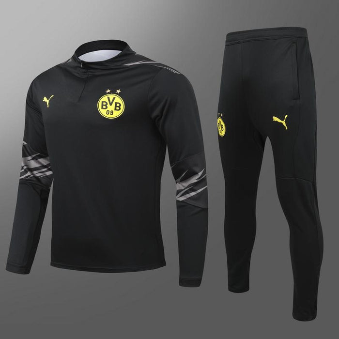 Borussia Dortmund Black 2020-21 Training Kit ( TOP + PANT )