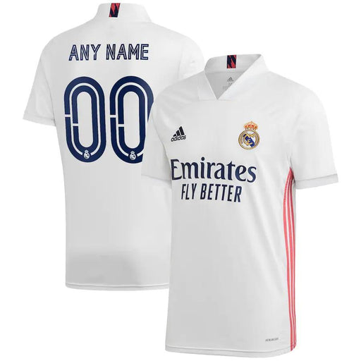 Real Madrid Custom 2020-21 White Home Men's Short Sleeve Jersey