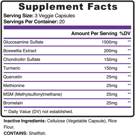 Aclivia Joint Flex Ultra Supplement Facts