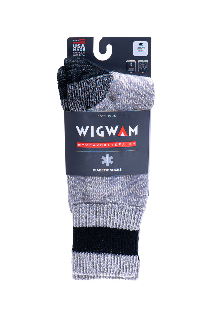 Diabetic Thermal Crew Socks - F2062BLK