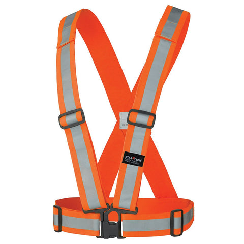 Hi Vis Safety Sash - 5591 Orange