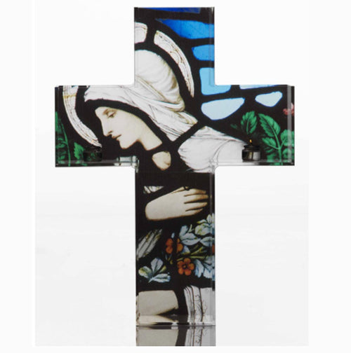 Triptych Kreuz Shelf (Featuring a Saint Holding Flowers)