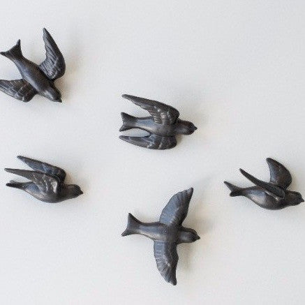 Flying Birds Wall Art (set of five)