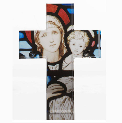 Triptych Kreuz Shelf (Featuring Mary and Jesus)