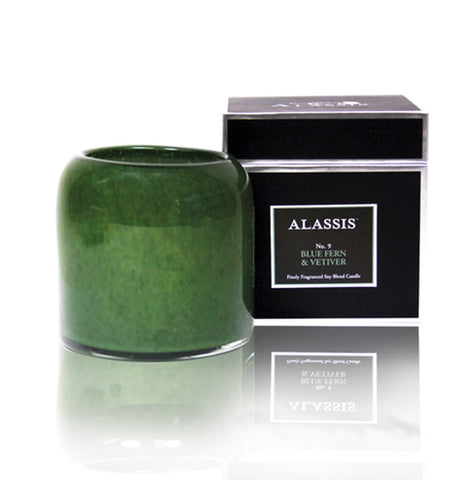 Alassis Blue Fern & Vetiver Candle