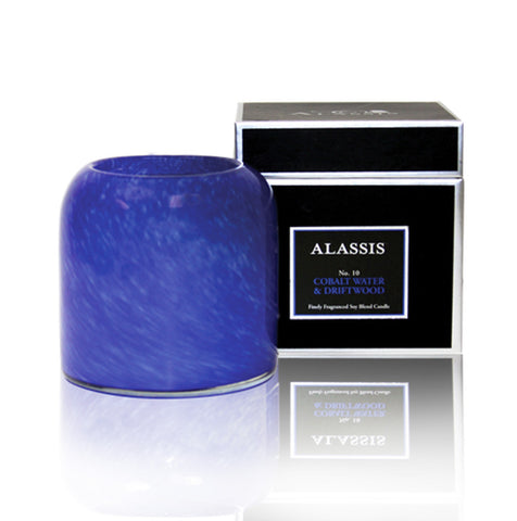 Alassis Cobalt Water & Driftwood Candle