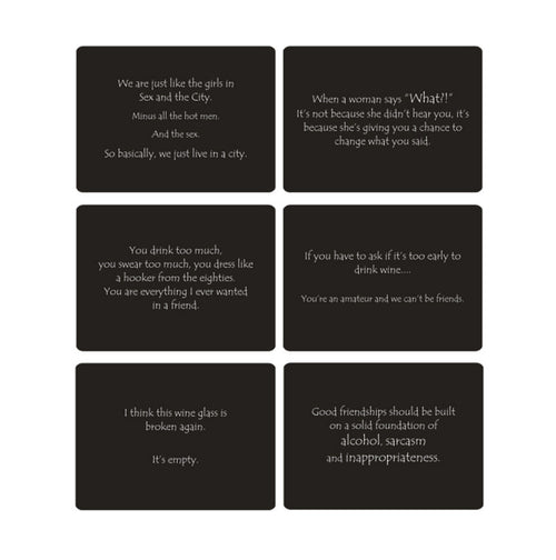 Humorous Placemats - Black