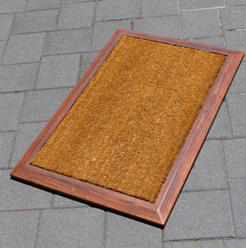 Latex Backed Coir Mat with Kwila Frame