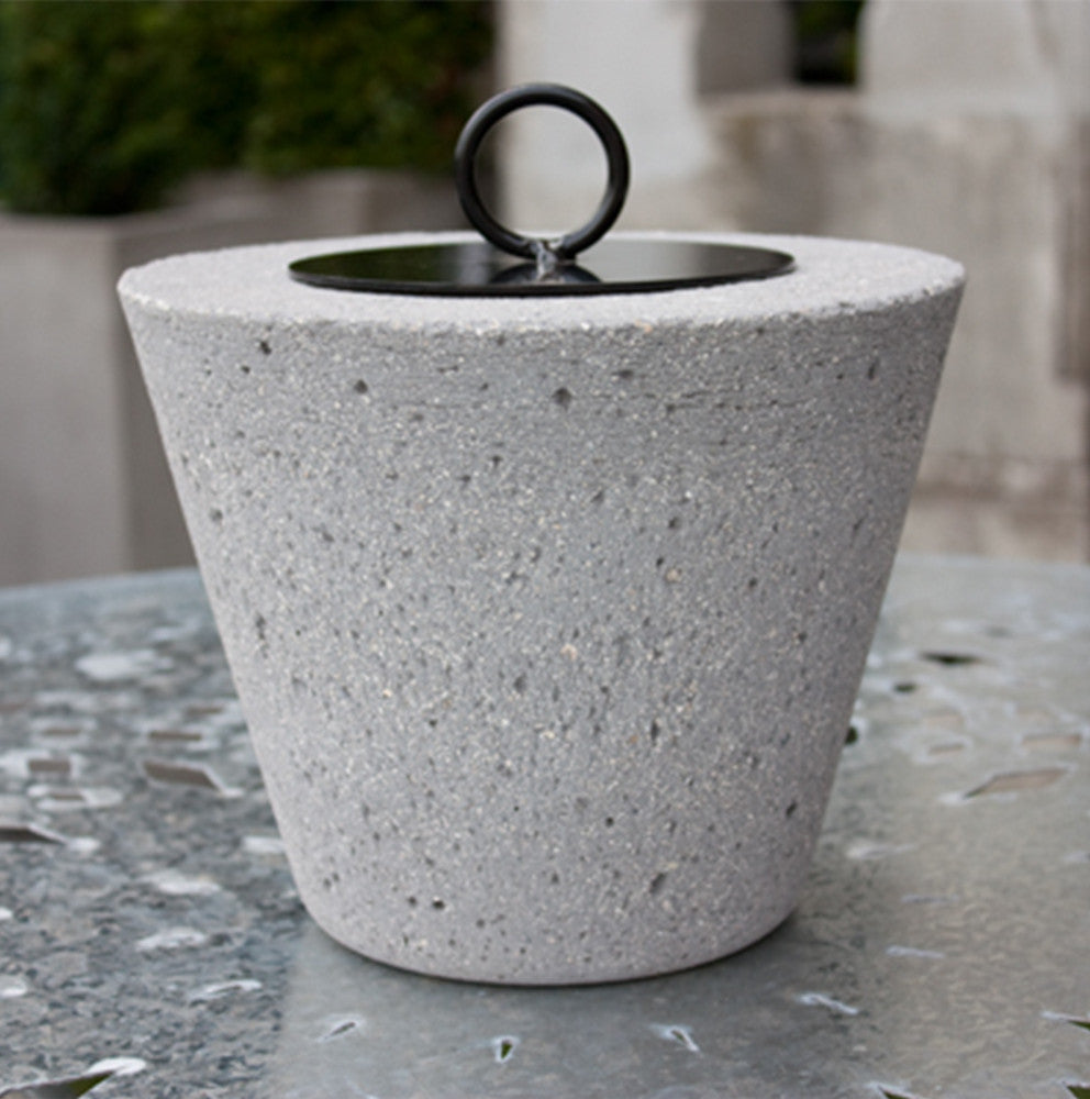 Large Cement Grey Firepot