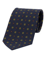 Fumagalli Navy Diamond Pattern Tie