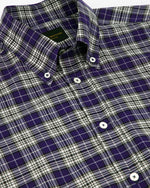 Cobalt Poplin Check Button Down Shirt