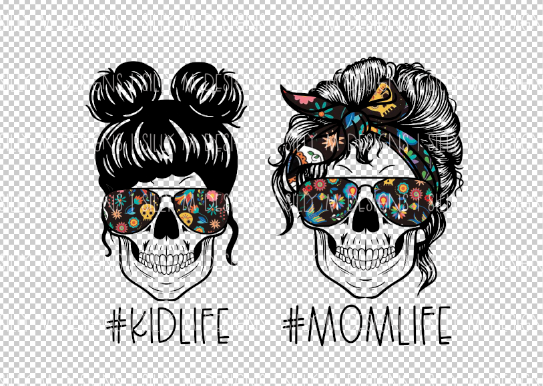 Sugar Skull #momlife #kidlife PNG Bundle