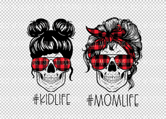 Buffalo Plaid #momlife #kidlife PNG Bundle