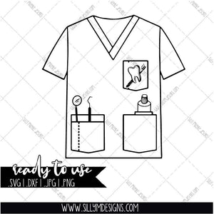 Scrubs for Dentist, Dental Assistant | SVG, JPEG, PNG, Silhouette, Cricut, Instant Download, Digital File, Tumbler Template