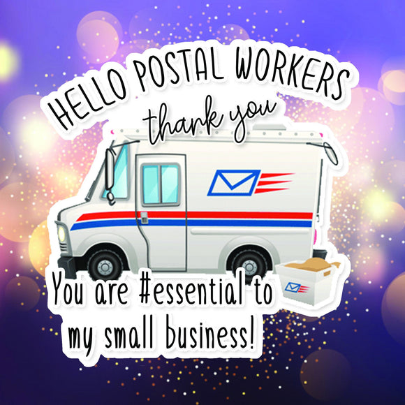 Mail Carrier Thank You Sticker DIGITAL | .png & .jpeg DOWNLOADS