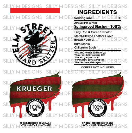 Freddy Krueger Hard Seltzer Label JPG