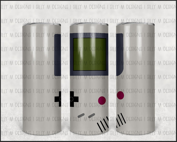 Game Boy Video Game | Tumbler Wrap | JPG Digital Download | 20oz Sublimation | Waterslide