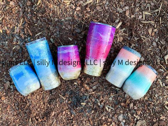 Glittered Beaches Stainless Steel Tumbler | Design Your Own