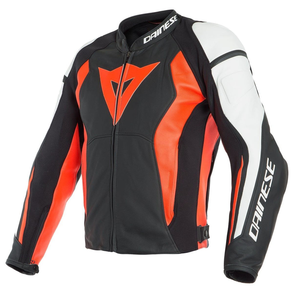 DAINESE NEXUS LADY LEATHER JACKET BLACK/FLUO-RED/WHITE női bőrkabát