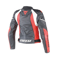 Load image into Gallery viewer, DAINESE AVRO D1 black/red/white  női bőrkabát