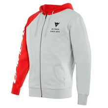 Load image into Gallery viewer, DAINESE PADDOCK FULL-ZIP gray/lava-red/black pulóver