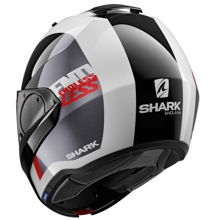 SHARK EVO ES ENDLESS WKR white/black/red bukósisak