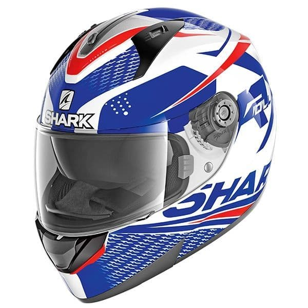 SHARK RIDILL STRATOM WBR white/blue/red bukósisak