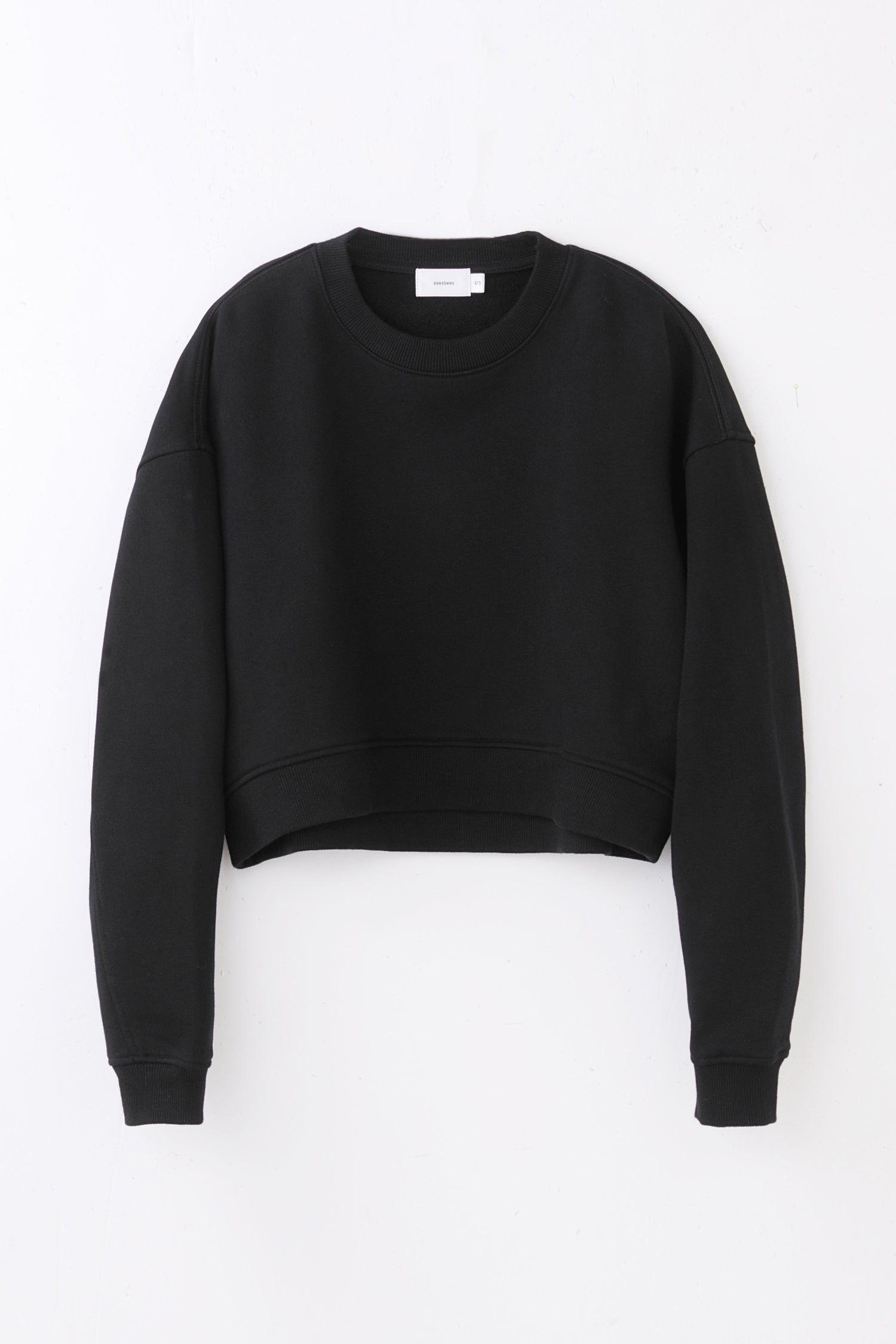 short/loose sweatshirt -black-