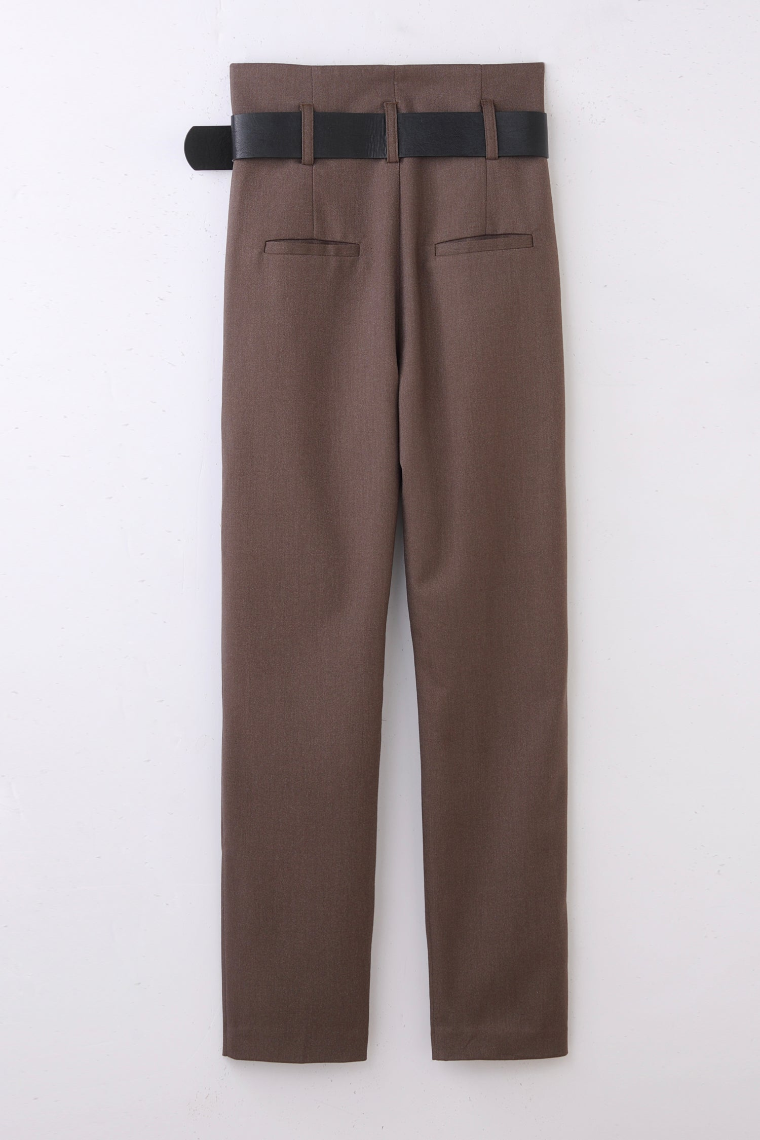 high waist pants -brown-