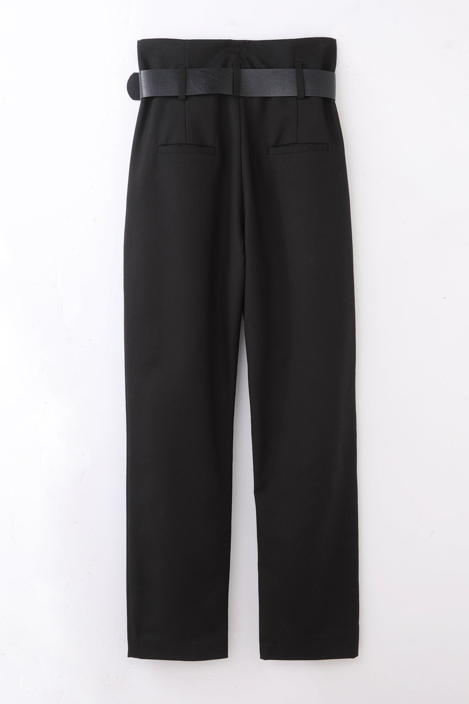high waist pants -black-