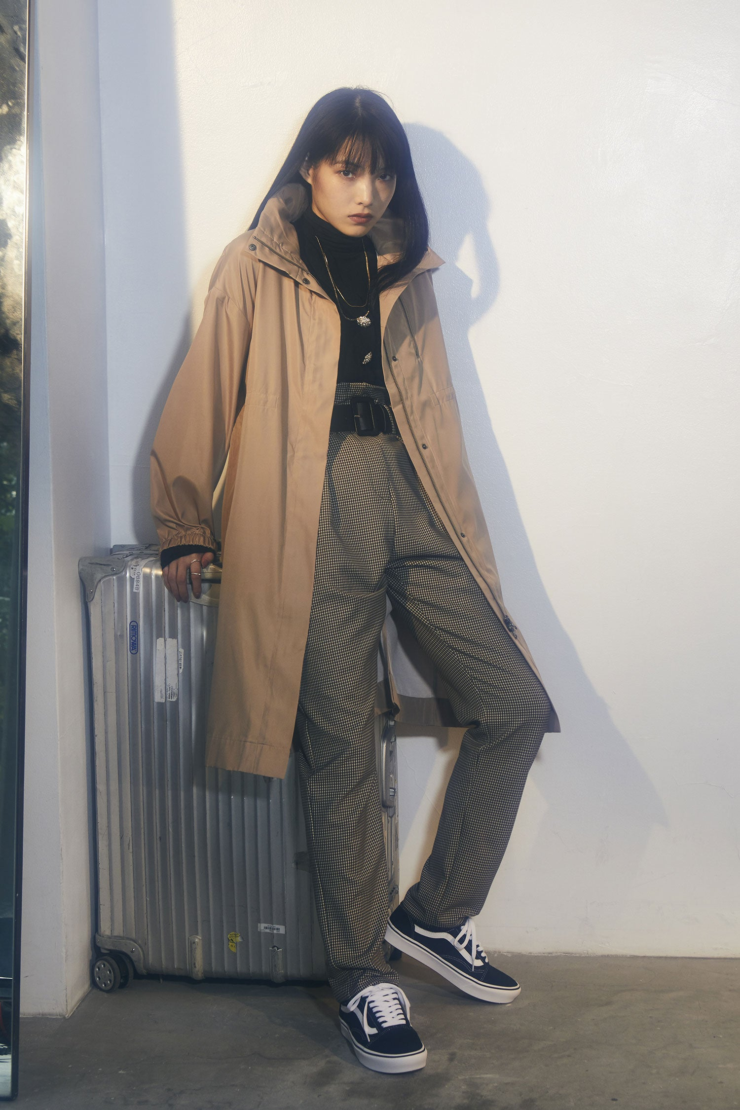 water resistant coat -beige-