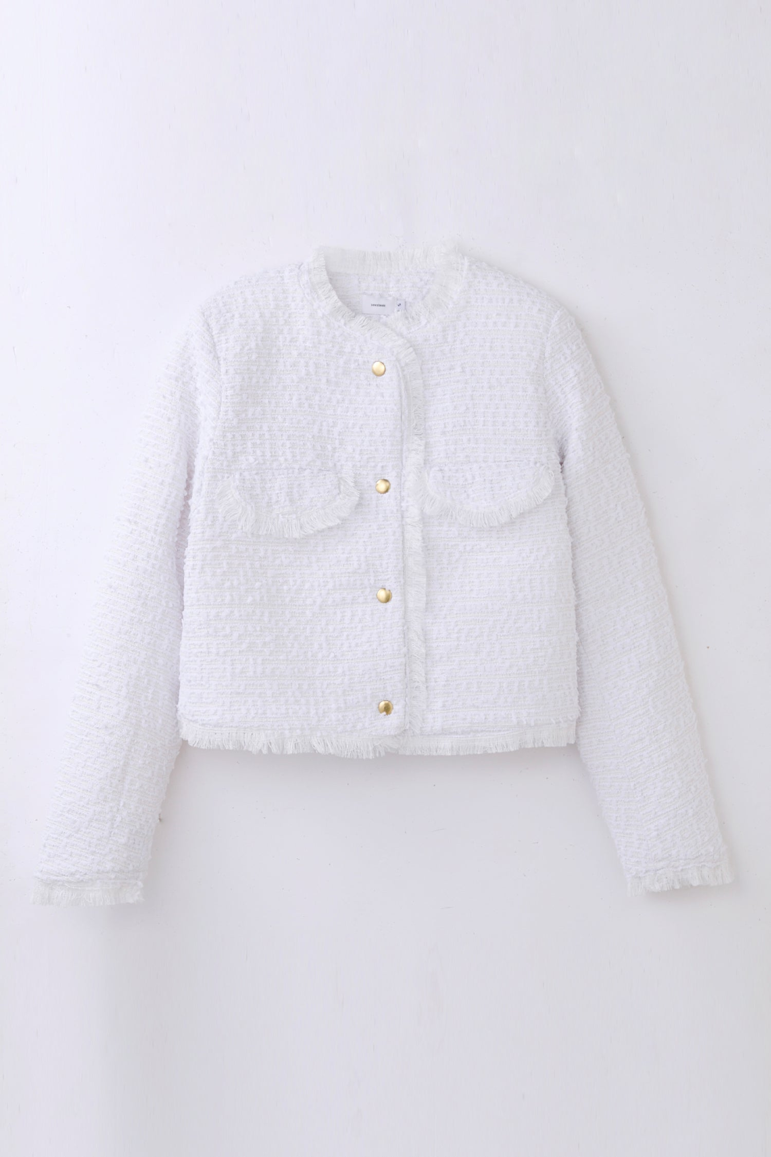 tweed jacket -white-