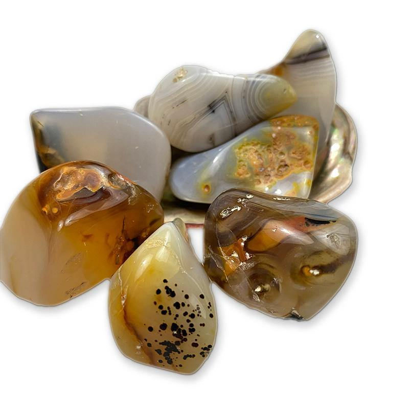 Tumbled Dendritic Agate - Best Life Crystals