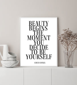 Beauty Begins Coco Chanel Poster