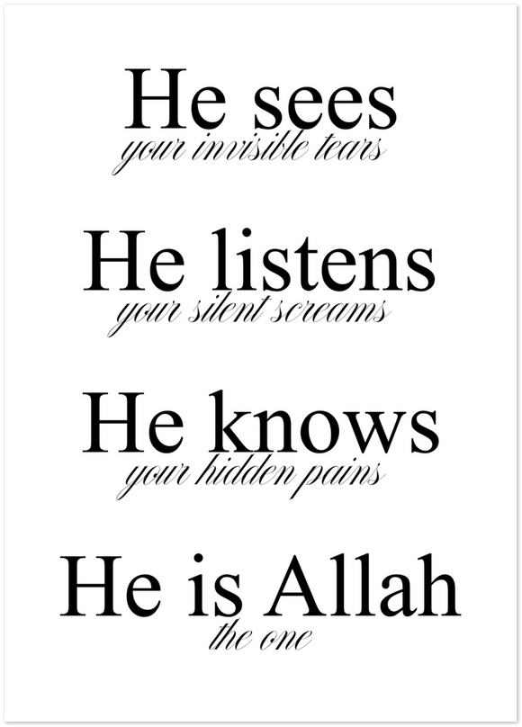 He is Allah Poster