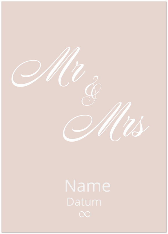 MR & MRS. PINK PERSONALISIERTES POSTER