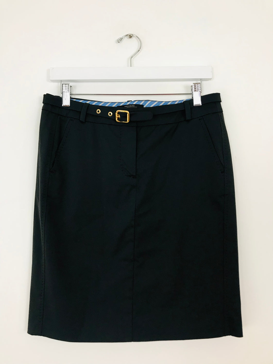 Weekend Max Mara Women's Shift Pencil Skirt | UK8 | Black
